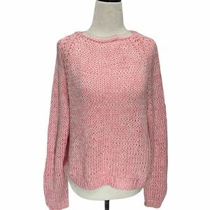 NEW! Super Soft Hand Knit Cuddly Pink Sweater S/M